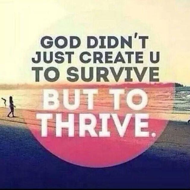 God Didn't Create You Just To Survive, But To THRIVE.