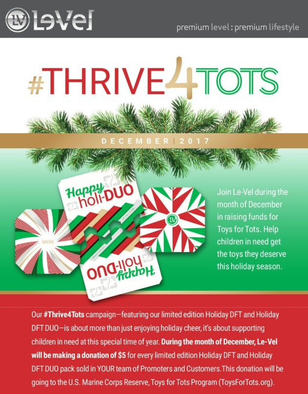 Purchase holiday edition products and proceeds from each product will go to Toys For Tots.